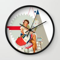dolly parton Wall Clocks featuring Dolly by Cut and Paste Lady