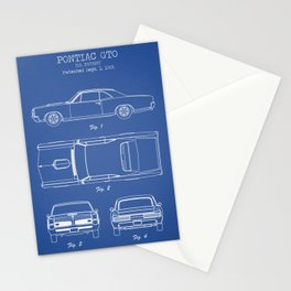 PONTIAC GTO patent print, pontiac gto poster, muscle car decor, pontiac gto blueprint Stationery Cards