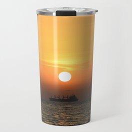 Heart in Sunset 1 Travel Mug