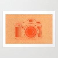 camera paper Art Print