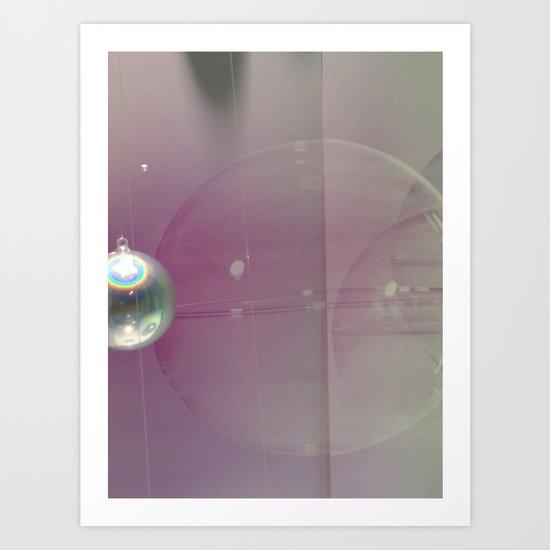 pink silver Art Print