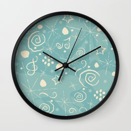 Seamless Pattern with berries and Spruce branches. Merry Christmas, Winter Collection Wall Clock