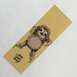 Hang in There Baby Sloth Yoga Mat