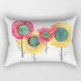 Galaxy Flowers Rectangular Pillow