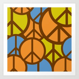 Cool Colorful Groovy Peace Symbols #society6 #decor #buyart #artprint Art Print