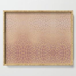 Gold Pink Leopard Serving Tray