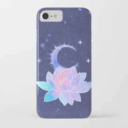 moon lotus flower iPhone Case