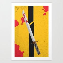KILL BILL Tribute Art Print