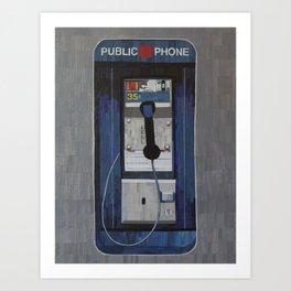 Payphone Art Print
