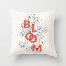 Vintage Bloom #society6 Throw Pillow