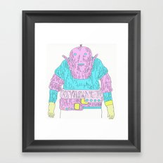 Staring into space Framed Art Print