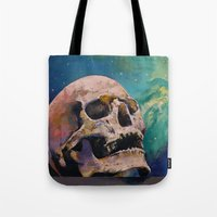 fullmetal alchemist Tote Bags featuring The Alchemist by Michael Creese