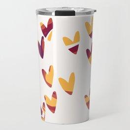 Pretty swirl hearts - magenta, yellow, fuchsia Travel Mug
