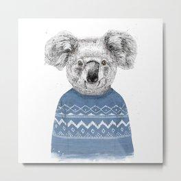 Winter koala Metal Print