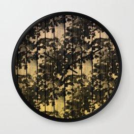 Leaf Shadows on Deck - nude2yellow Wall Clock