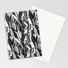 Inner Jungle in Black and White Stationery Cards