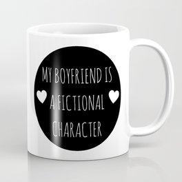 My Boyfriend Is A Fictional Character (Black) Coffee Mug