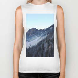 Sunset over the Mountain (Color) Biker Tank