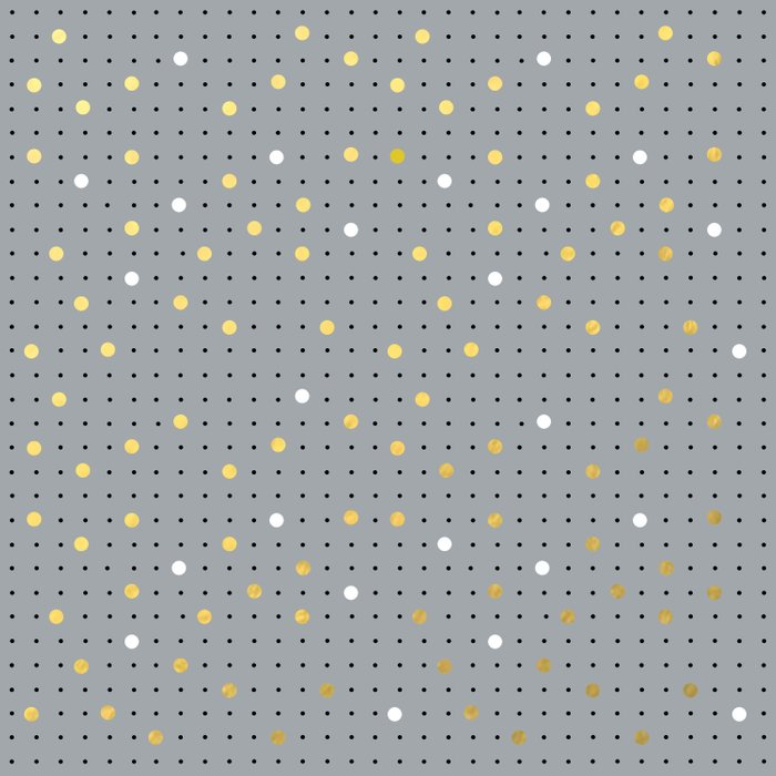 Pin Points Grey, Gold and White Duvet Cover