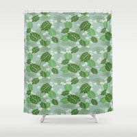 hawaiian Shower Curtains featuring Hawaiian by Holy Spoof