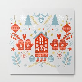 Laplander Winter Holiday Metal Print