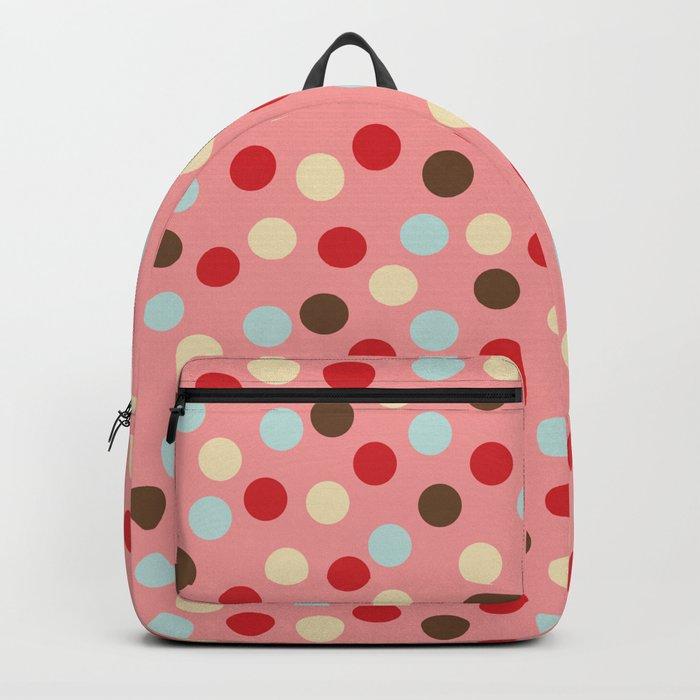 Christmas dots pink Backpack