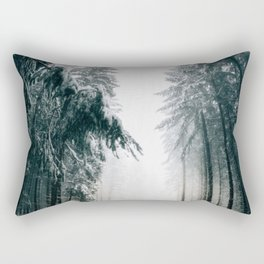 Winding Winter Roads Rectangular Pillow