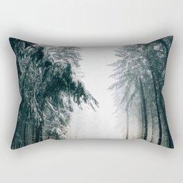 Winding Winter Roads Rectangular Pillow