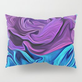 Turquoise and Violet Rose Pillow Sham