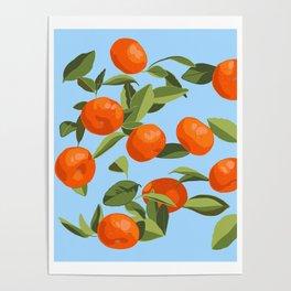 Good Luck Mandarin Oranges Poster
