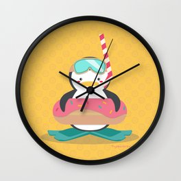 Let's Go Snorkeling Wall Clock