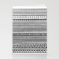 striped Stationery Cards featuring Striped by Rough Gem