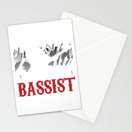 Bands Guitarists Music Lovers Guitar Musicians Gift Bassist  Stationery Cards