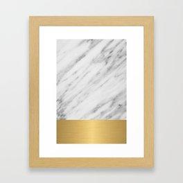 Carrara Italian Marble Holiday Gold Edition Framed Art Print