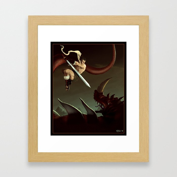 Slay the Dragon! Framed Art Print
