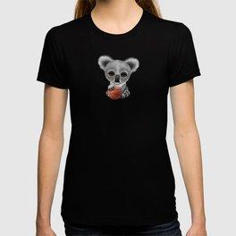 Cute Baby Koala Playing With Basketball T-shirt