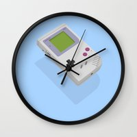 gameboy Wall Clocks featuring Gameboy by Mr Christer Design