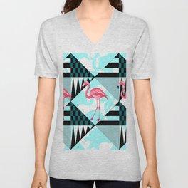 flamingo all days Unisex V-Neck