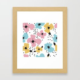 Abstract fowers Framed Art Print