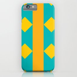 Pattern orange blue iPhone Case