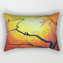 Sunset Birds Rectangular Pillow