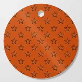 Orange stars pattern Cutting Board