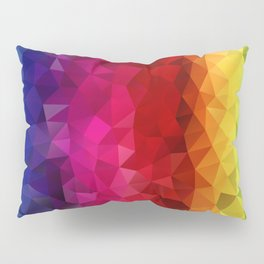 Rainbow Polygons Pillow Sham