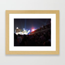 Mesmerized By The Lights Framed Art Print