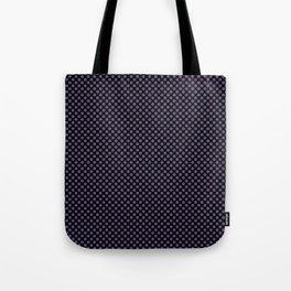 Black and Imperial Palace Polka Dots Tote Bag