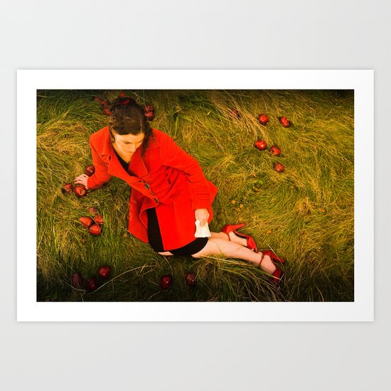 Lizzie Nunnery and the Apples Art Print