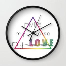 Love Pyramid Wall Clock