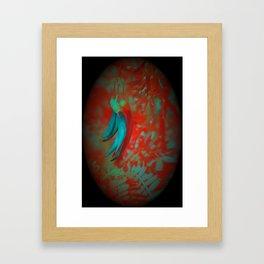 Rare Kaka Flower in Bloom, digital photograph enhanced, New Zealand Framed Art Print