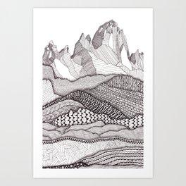 Patterns on Patagonia Art Print