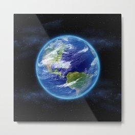 Planet Earth in Space Metal Print